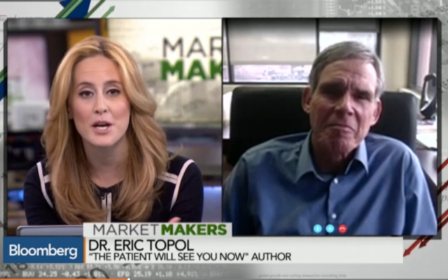 Eric Topol Bloomberg Market Makers Skype Video Interview
