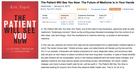 Eric Topol MD The Patient Will See You Now