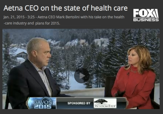 FoxBusinessNews Aetna CEO on the state of health care