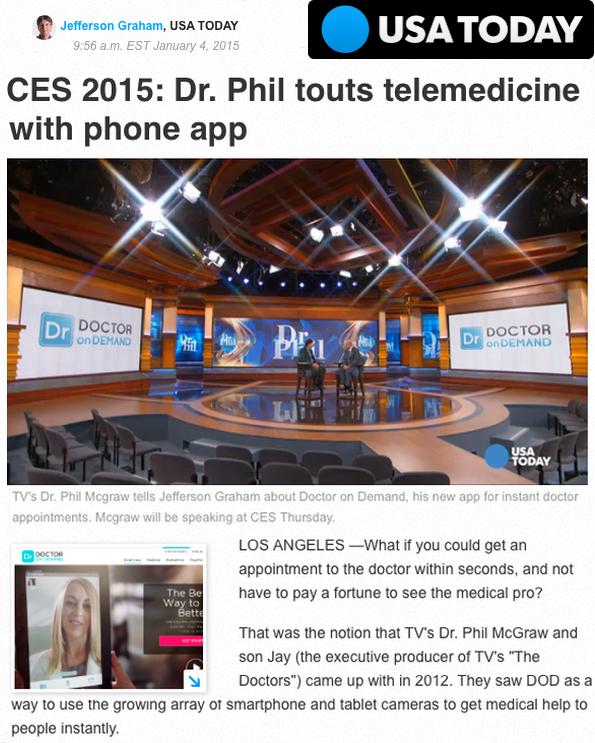 USAToday CES 2015 mHealth