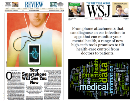 Your Smartphone Will See You Now Saturday Essay in WSJ by Eric Topol MD