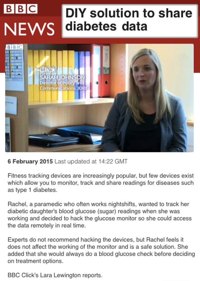 BBCNEWS DIY Solution to share Diabetes Data