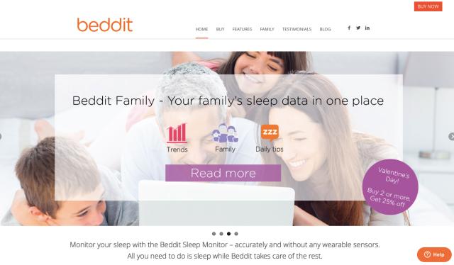 Beddit Website