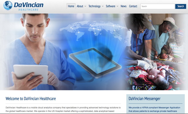 Davincian Healthcare Website