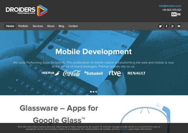 Droiders Glassware Website