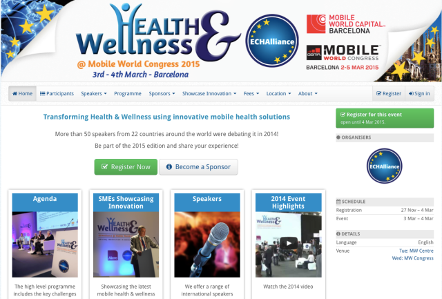 ECHAlliance health and wellness at MWC2015