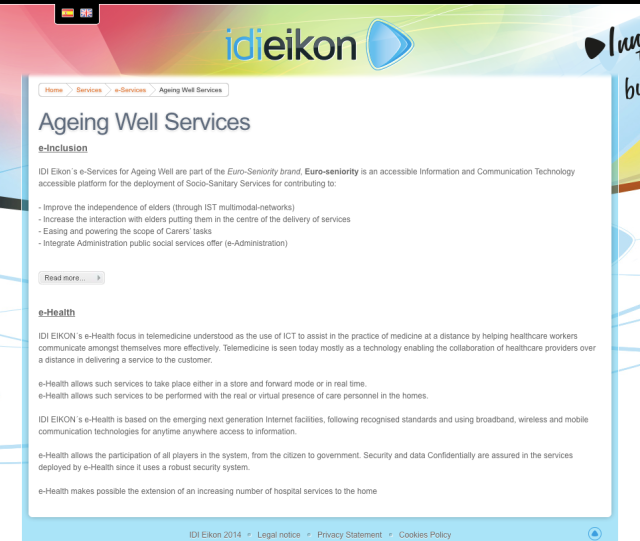 IDI EIKON Website