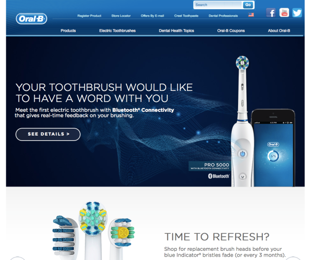 Oral B Website