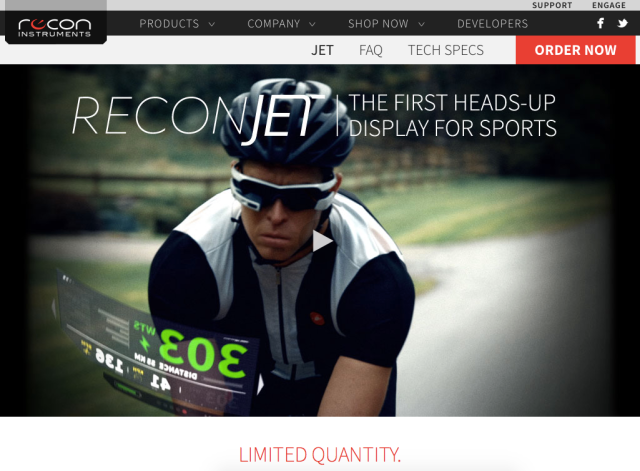 Recon Instruments Website