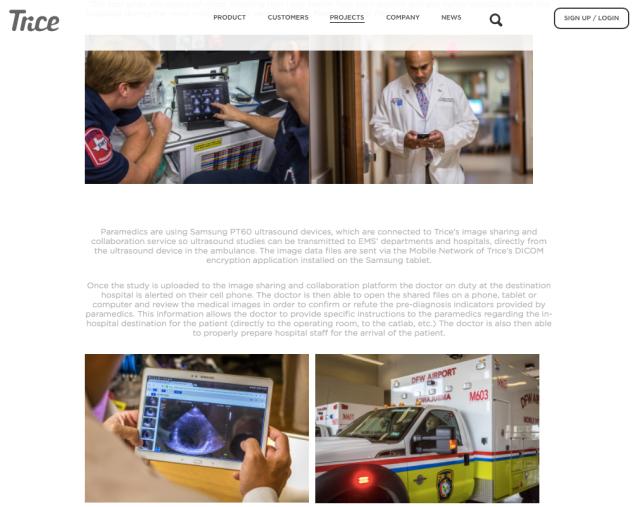 Trice & Samsung Ultrasound in ambulance
