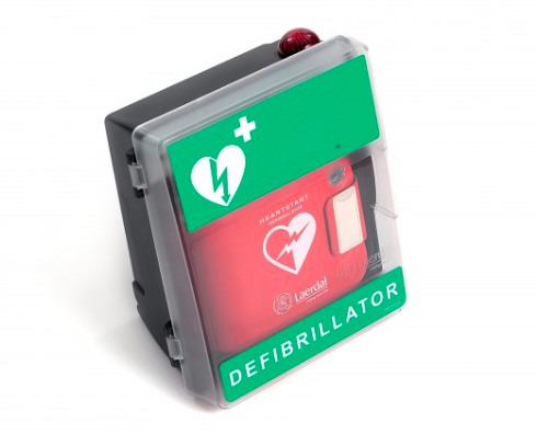 Laerdal M2M mobile connected defib cabinet