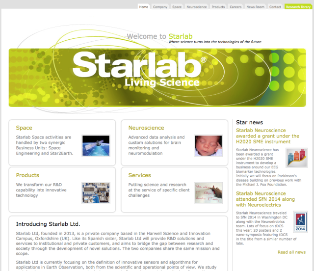 Starlab Living Science Website