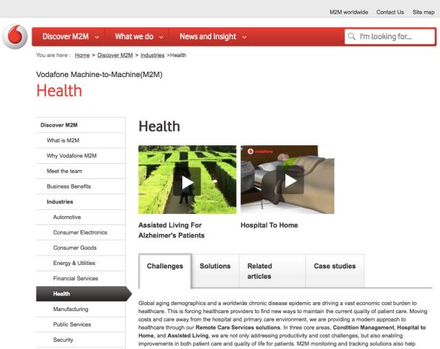 Vodafone M2M Health