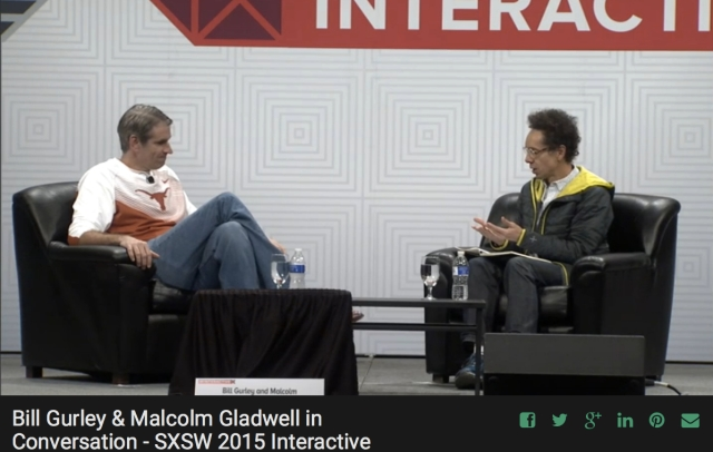 Bill Gurley and Malcolm Gladwell SXSW2015