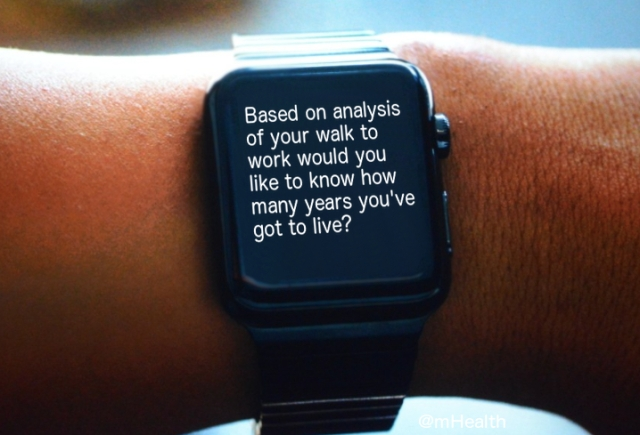 Scary mHealth message from my Apple Watch