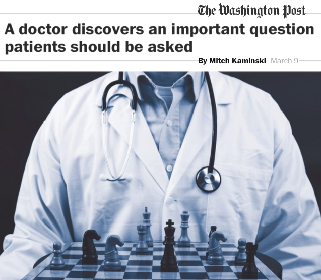 WashingtonPost A Doctor discovers an important question Patients should be asked