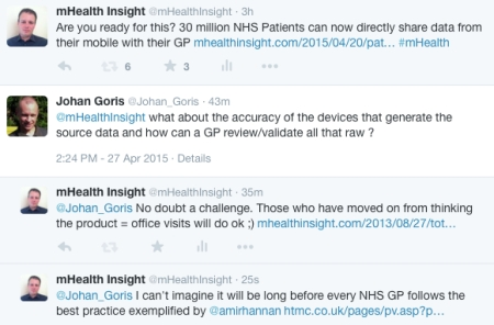 how will GPs manage the accuracy of Healthkit generated Patient data