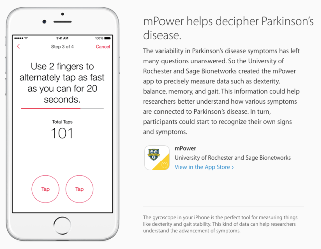 mPower ResearchKit App
