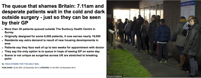 The queue that shames britain