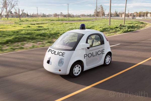 Is the solution to social acceptance of self driving that they double up as the eyes of a trusted Police force
