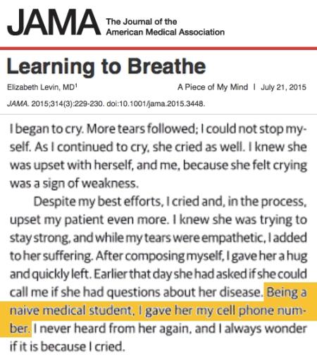 JAMA Learning to Breath Elizabeth Levin MD