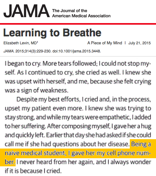 JAMA Learning to Breath Elizabeth Levin MD