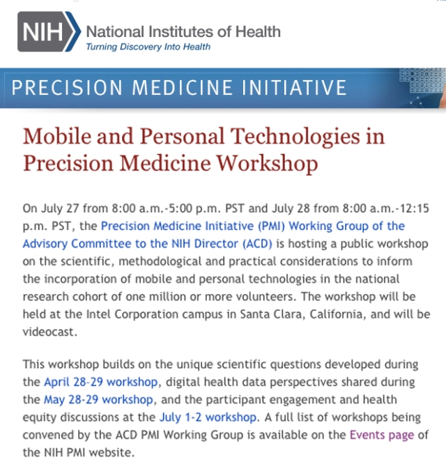 NIH Precision Medicine Initiative