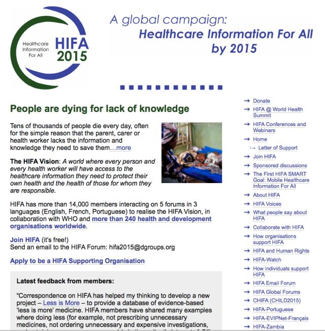 HIFA2015 mHealth