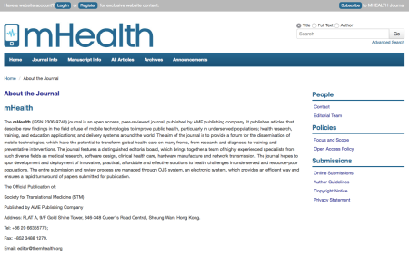 The mHealth Journal