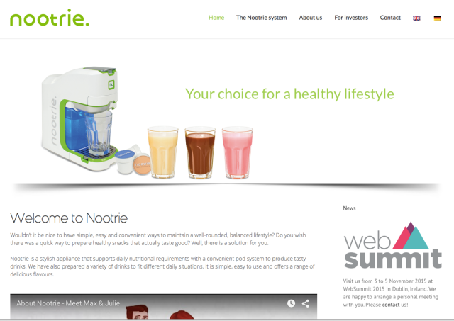 Nootrie AG Website