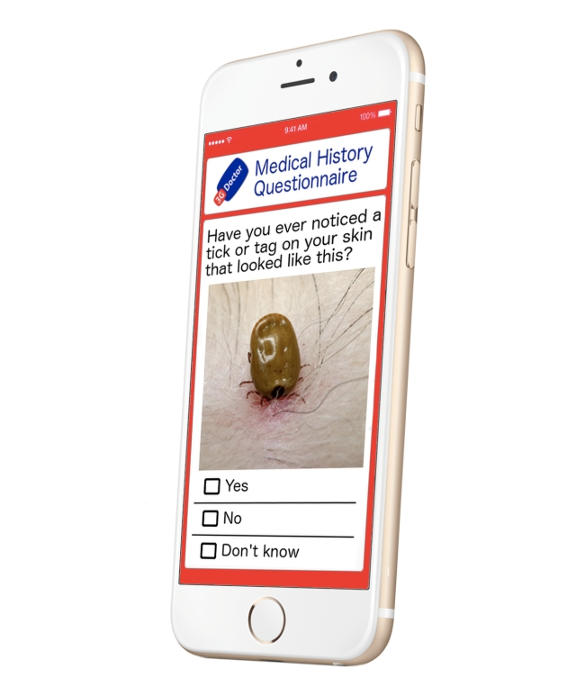Clinically Validated Medical History Taking Mobile Questionnaires Lyme Disease Screening