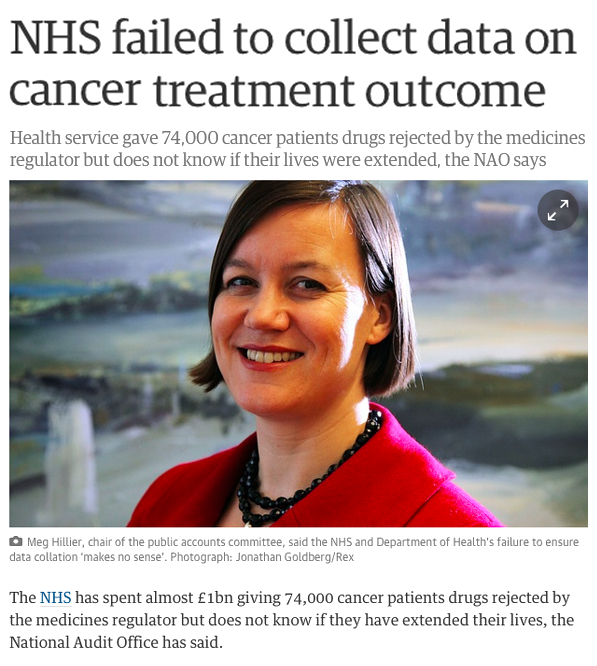 NHS Failed to collect data on cancer treatment outcomes