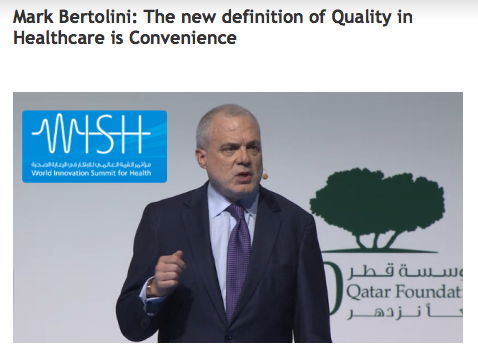 Mark Bertolini the new definition of quality in healthcare is convenience