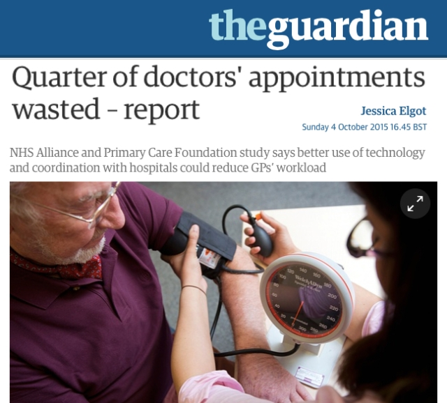 Quarter of Doctors Appointments wasted