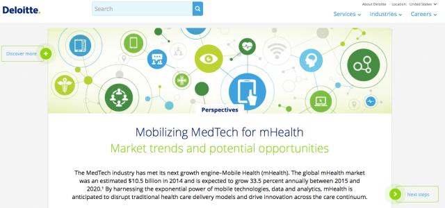 Deloitte Mobilising Medtech for mHealth