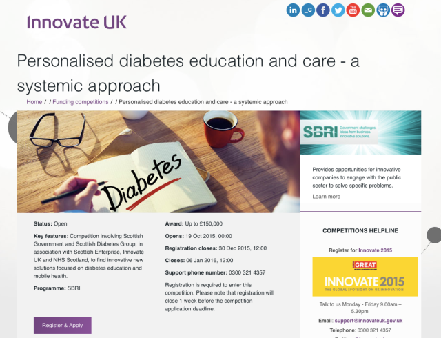 Innovate UK call for mHealth feasibility study applications