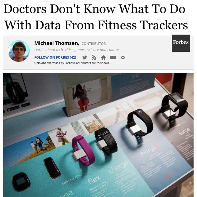 Doctors dont know what to do with data from fitness trackers