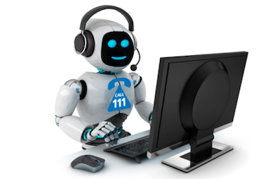 Robots answering NHS 111
