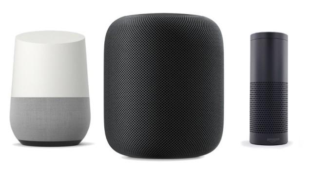 GoogleHome-AppleHomePod-AmazonEcho